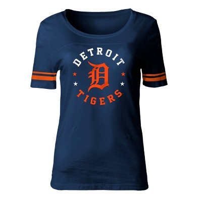 MLB Detroit Tigers Women's Poly Rayon Fashion T-Shirt