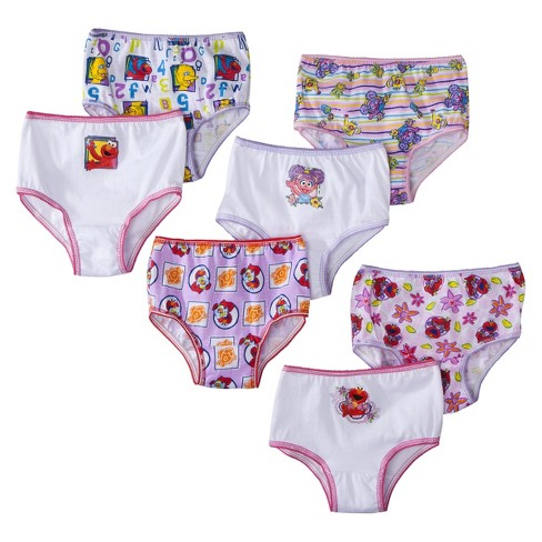 8ff0374b5f5 Toddler Girls  Sesame Street Elmo 7 Pack Briefs 2T-3T   Target