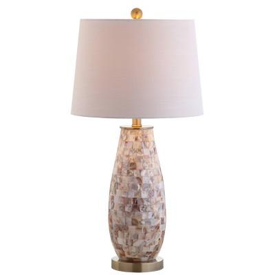 """28"""" Jocelyn Seashell Table Lamp (Includes LED Light Bulb) White - JONATHAN Y"""