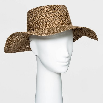 Women's Packable Braided Jute Boater Hat - Universal Thread™ Brown