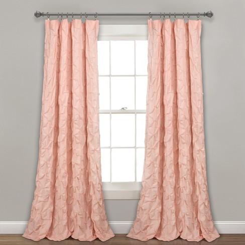 "84"" x 52"" Ravello Pintuck Window Curtain Panel - Lush Decor - image 1 of 3"