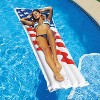 Swimline 72-Inch American Flag Swimming Pool Raft Float with Electric Air Pump - image 3 of 4