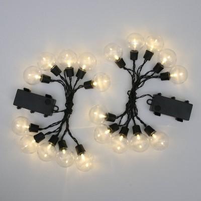 2ct Outdoor Hanging LED Lights Black - Bullseye's Playground™