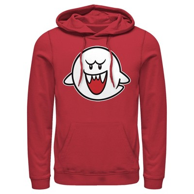Men's Nintendo Mario Boo Ghost Pull Over Hoodie