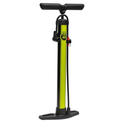 Bell Sports® Windstorm 400 Bike Floor Pump - Black/Yellow
