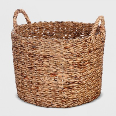 Round Water Hyacinth Basket