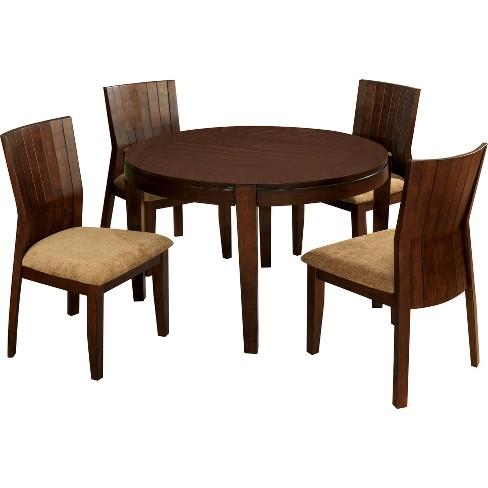 Sun Pine Simple Round Dining Table Wood Walnut