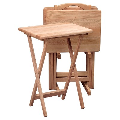 Alex 5 Piece Snack Table Set - Natural - Winsome