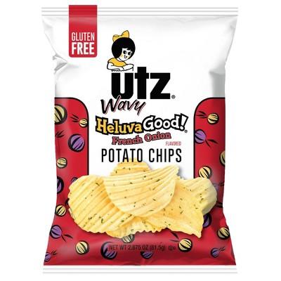 Utz Wavy Heluva Good! French Onion Flavored Potato Chips - 2.875oz