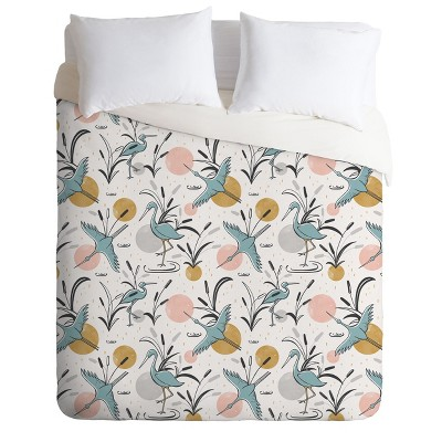 Heather Dutton Marshland Birds Duvet Set - Deny Designs