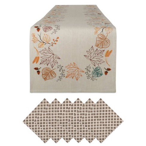 Plaid Table Set Autumn Spice - Design Imports - image 1 of 4