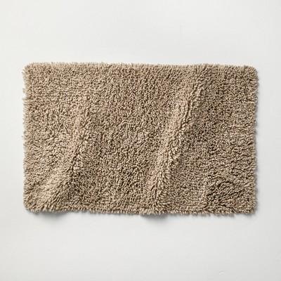 "21""x34"" Mélange Looped Bath Rug Dark Sand - Casaluna™"