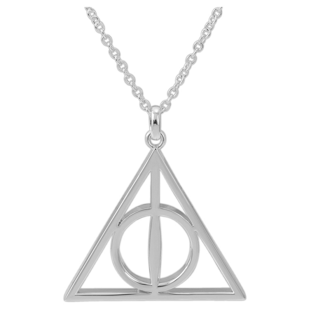Harry Potter Deathly Hollows Pendant Necklace, Silver