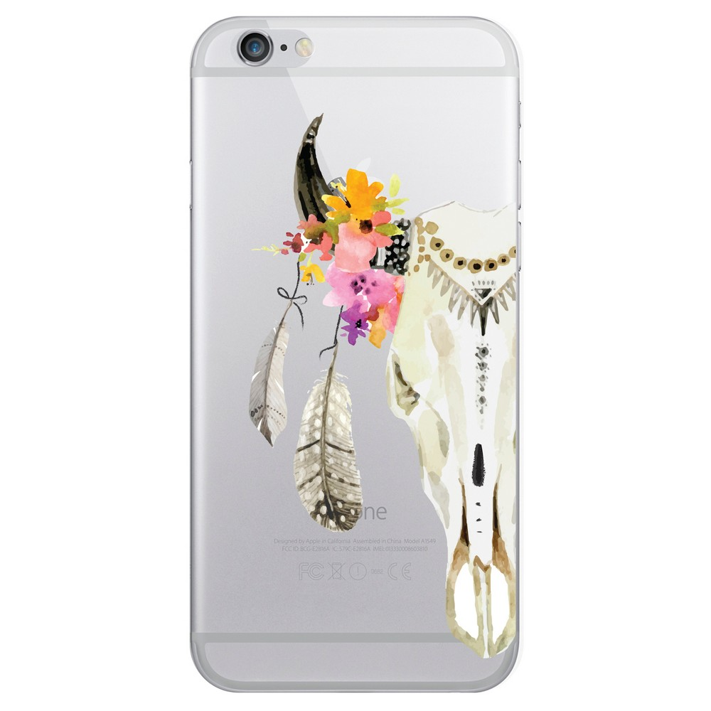 Apple iPhone 8/7/6s/6 Case Hybrid Feather & Skull Clear - Otm Essentials, Multi-Colored