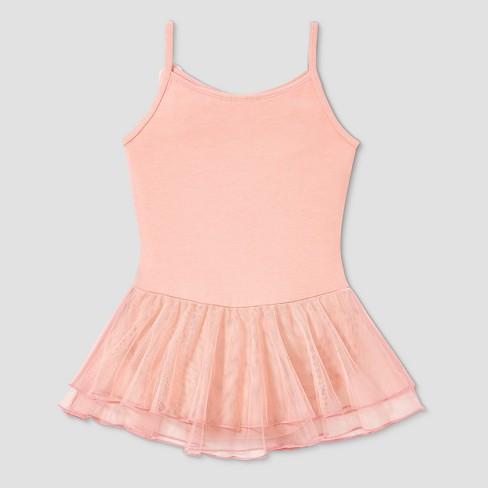 e39edf4bdf46 Freestyle By Danskin Girls  Cami Skirtall - Pink S   Target
