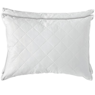Standard/Queen 2pk Quilted Natural Comfort Feather Bed Pillow - Sealy