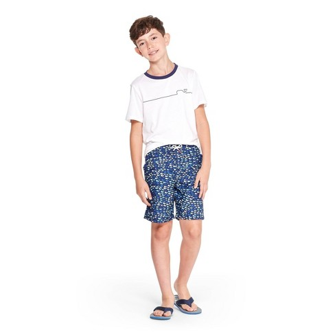 a7712214f207a Boys' School of Whales Swim Trunks - Blue - vineyard vines® for Target.  Shop all vineyard vines for Target