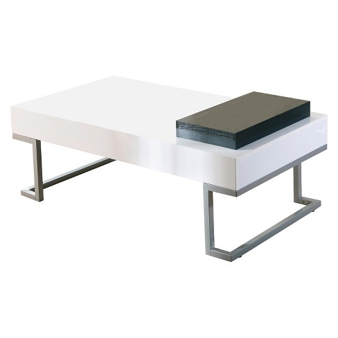 Karolyn Modern Coffee Table With Serving Tray White Homes Inside Out Target