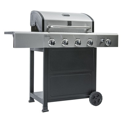 Kenmore 4 Burner Cart Gas Grill with Stainless Steel Lid - PG40406S0