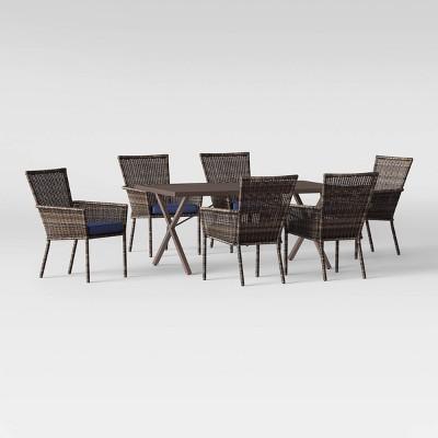 Monroe 7pc Patio Dining Set - Navy - Threshold™