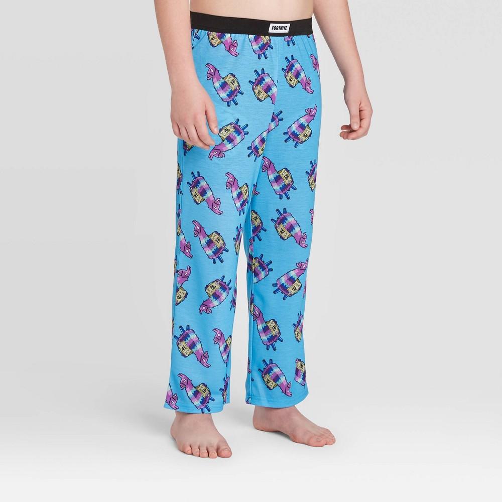 Image of Boys' Fortnite Llama Pajama Pants - Blue L, Boy's, Size: Large
