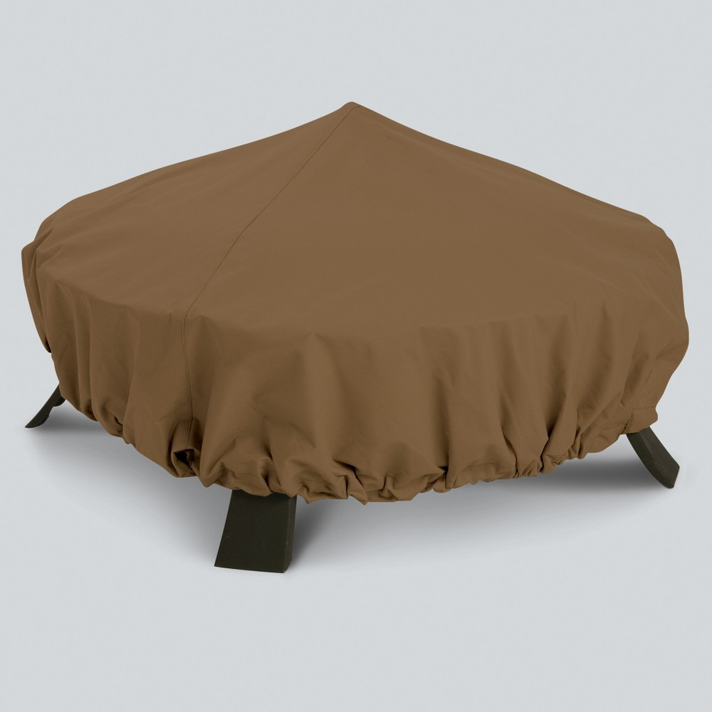 Image of Round Fire Pit Cover - Tan - Threshold , Brown