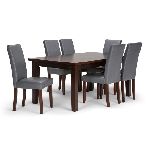 Awesome Normandy Solid Hardwood 7Pc Dining Set Stone Gray Wyndenhall Squirreltailoven Fun Painted Chair Ideas Images Squirreltailovenorg