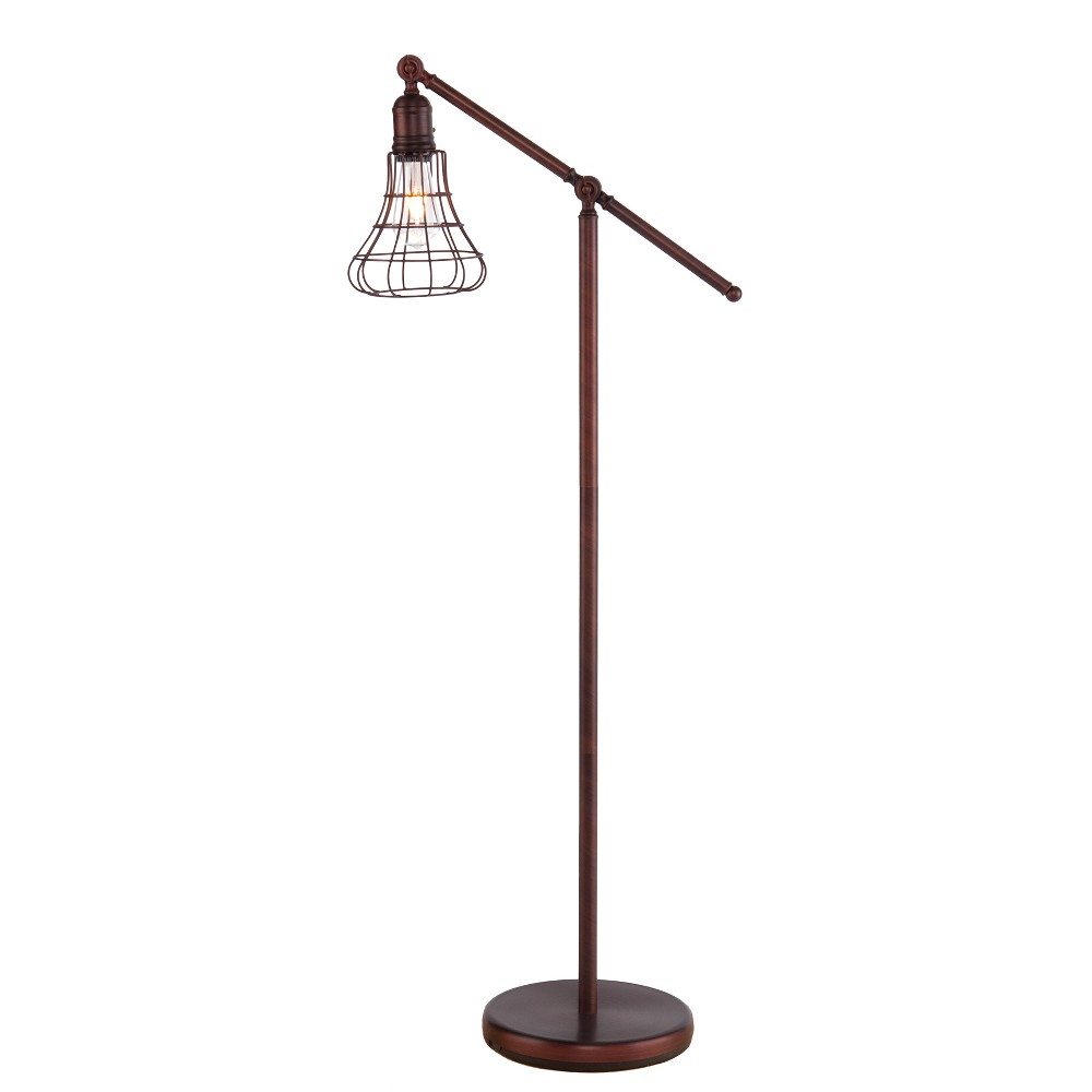 Cano Floor Lamp Brushed Bronze (Includes Energy Efficient Light Bulb) - Aiden Lane