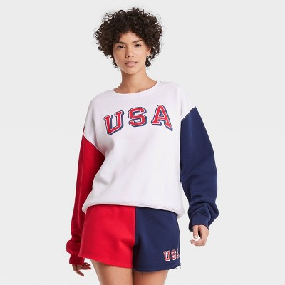 Women's USA Colorblock Graphic Sweatshirt