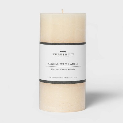 Pillar Vanilla Bean and Amber Candle - Threshold™