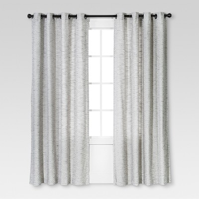 Diamond Weave Window Curtain Panel Radiant Gray (54 x84 )- Threshold™