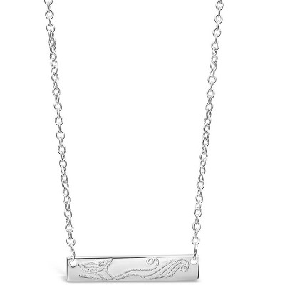 SHINE by Sterling Forever Swimming Siren Bar Pendant Necklace