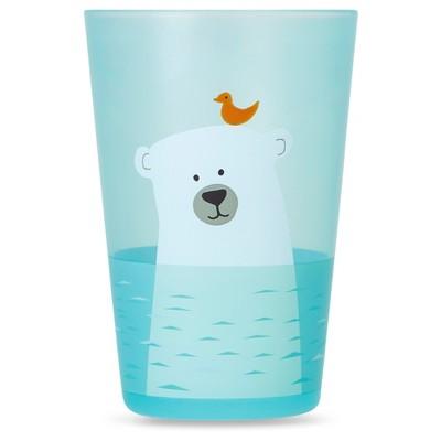 Cheeky Plastic Kids Tumbler 8.5oz Arctic Polar Bear - Blue