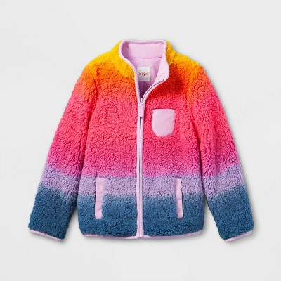 Girls' Sherpa Zip-Up Jacket - Cat & Jack™