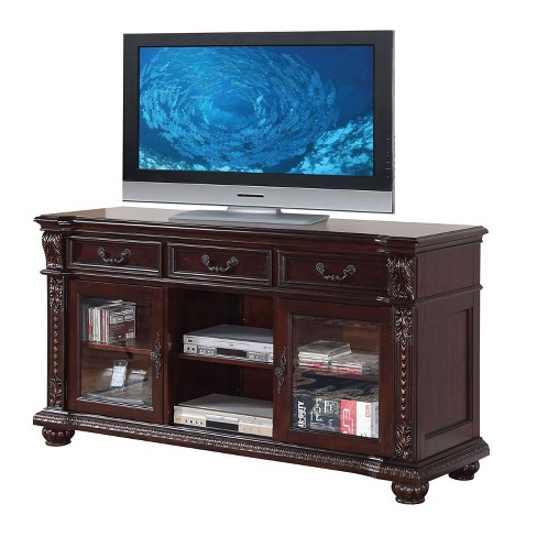 Anondale Tv Stand Cherry Acme Furniture Target Check out our tv stand selection for the very best in unique or custom, handmade pieces from our console tables & cabinets shops. anondale tv stand cherry acme furniture