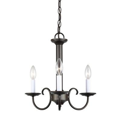 "Sea Gull Lighting Holman 3-Light 16"" Chandelier, Heirloom Bronze 31807-782"