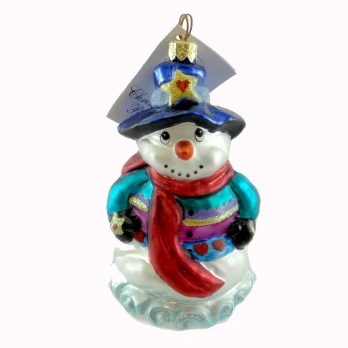 Christopher Radko Warm & Wooly Ornament Snowman Winter - image 1 of 2