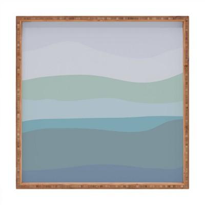 "17"" Wood June Journal Large Calming Ocean Waves Tray - society6"