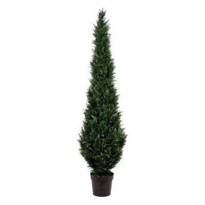 7' Artificial Potted Cedar Tree (UV) - Vickerman