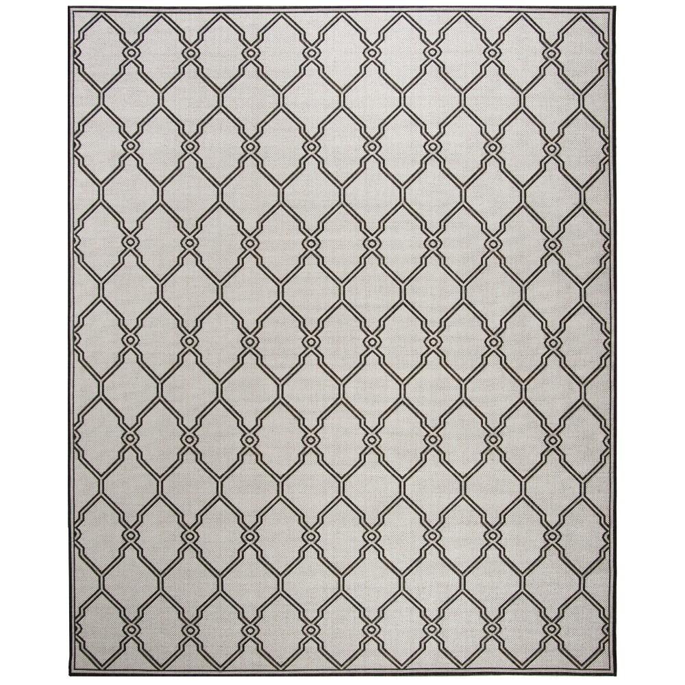 9 X12 Geometric Loomed Area Rug Light Gray Charcoal Safavieh