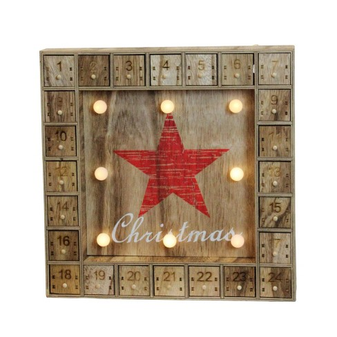 Northlight Battery Operated LED Prelit Christmas Star Advent Calendar Wall Decoration - image 1 of 2