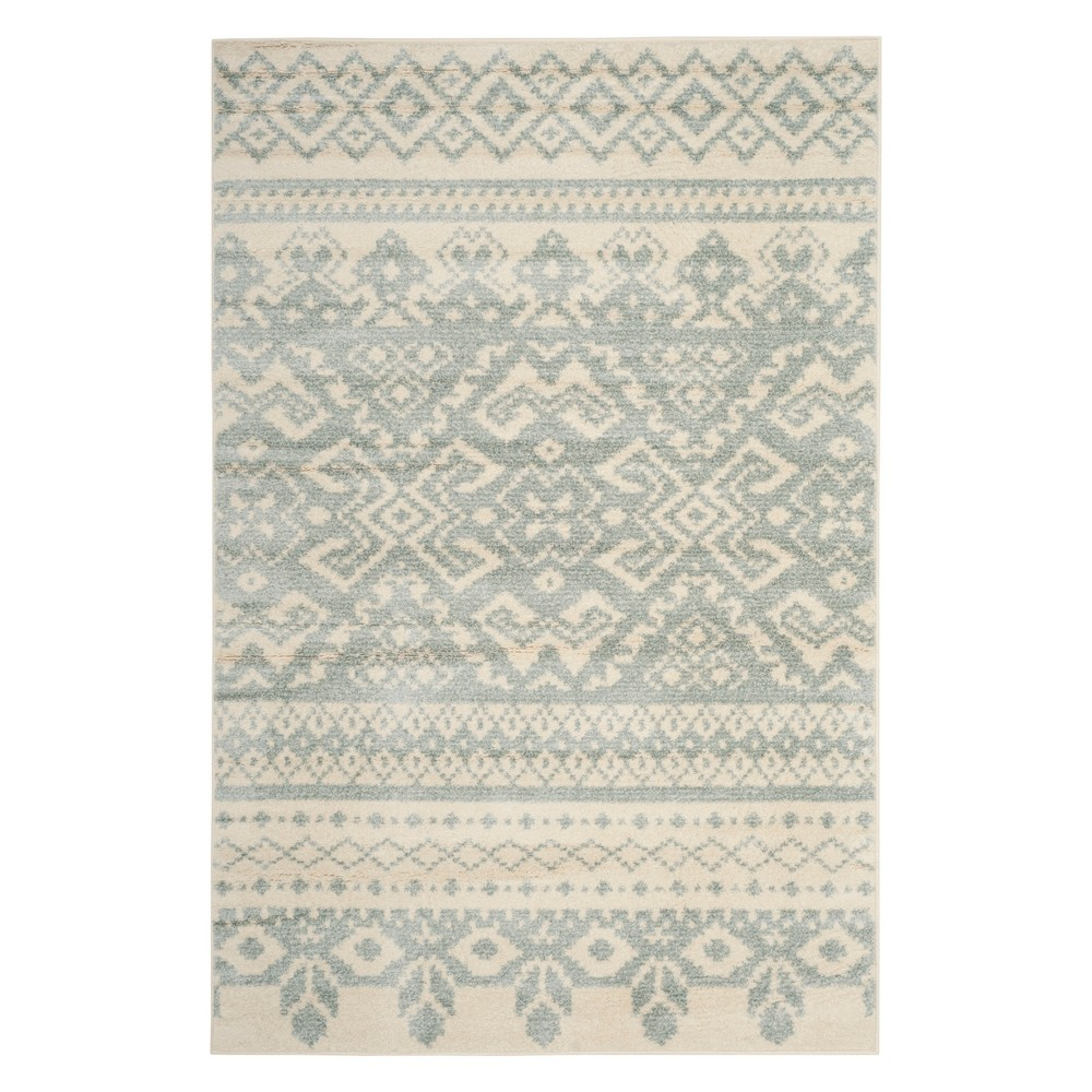 4'X6' Fair Isle Design Area Rug Ivory/Slate (Ivory/Grey) - Safavieh