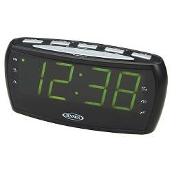 JENSEN AM/FM Alarm Clock Radio - Black