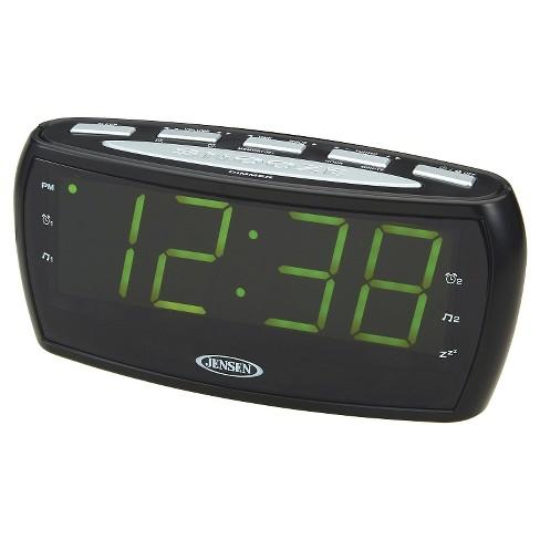 JENSEN AM/FM Alarm Clock Radio - Black - image 1 of 3