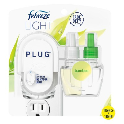 Febreze Light Plug Bamboo Starter Kit with Fade Defy Technology