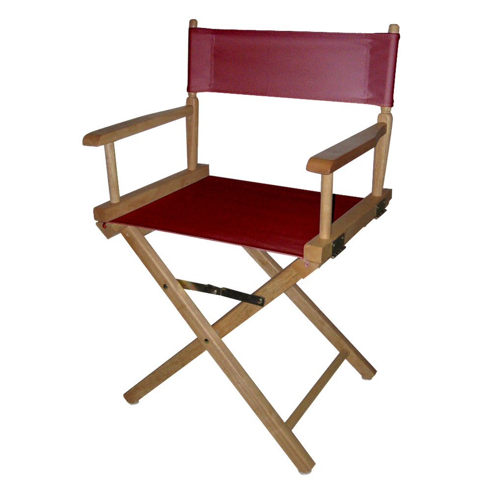 Director's Chair Canvas Burgundy (Red)/Natural Flora Home