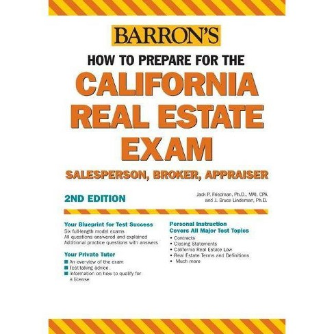How to Prepare for the California Real Estate Exam - 2 Edition by Jack P  Friedman & J Bruce Lindeman