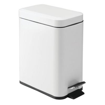mDesign Step Trash Can, 1.3 Gallon Garbage Bin, Removable Liner Bucket