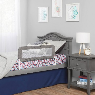 Dream On Me 3D Linen fabric and Mesh Security Bed Rail - Gray