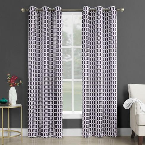 Murphy Geometric Blackout Rod Pocket Curtain Panel Sun